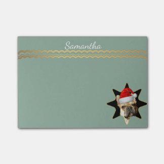 Christmas French Bulldog post it notes