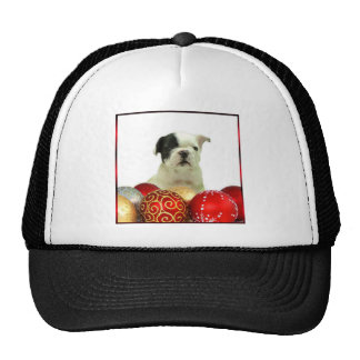 Christmas French Bulldog puppy Mesh Hats
