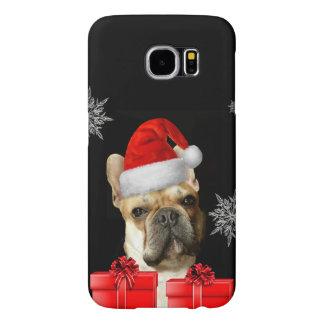 Christmas French Bulldog Samsung s6 case