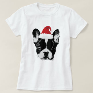 Christmas French Bulldog Santa Frenchie T-Shirt
