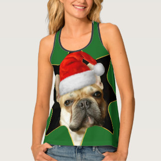 Christmas French Bulldog Shirt Tank Top