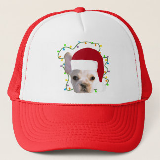 Christmas French Bulldog Trucker Hat