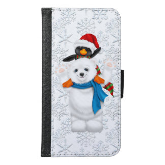 Christmas Friends Galaxy s6 wallet c ase
