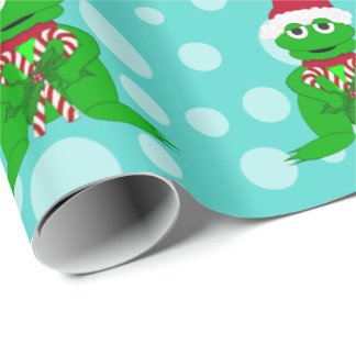 Christmas Frog: Blue Wrapping Paper