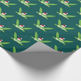 Christmas Frog Cute Funny Cartoon Simple for Kids Wrapping Paper