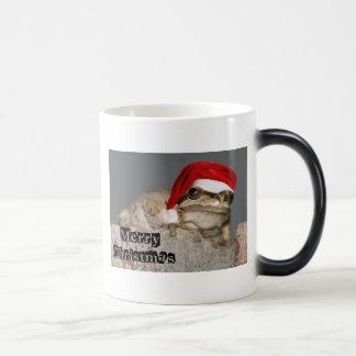 Christmas Frog Morphing Mug