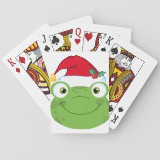 Christmas Frog Playing Cards