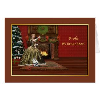 Christmas, Frohe Weihnachten, German, Vintage Card