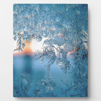 Christmas frost ice plaque