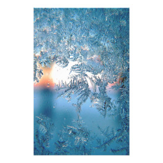 Christmas frost ice stationery
