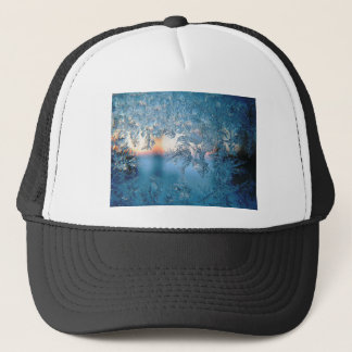 Christmas frost ice trucker hat
