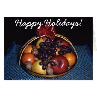 Christmas Fruit Basket Greeting Card
