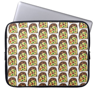 Christmas Fruit Cake Fruitcake Slice Holiday Xmas Laptop Sleeve
