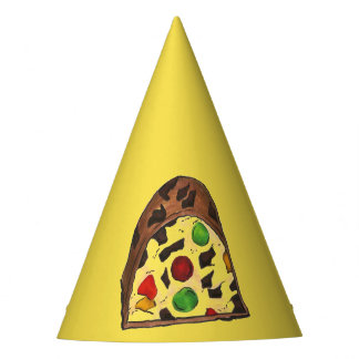Christmas Fruit Cake Fruitcake Slice Holiday Xmas Party Hat