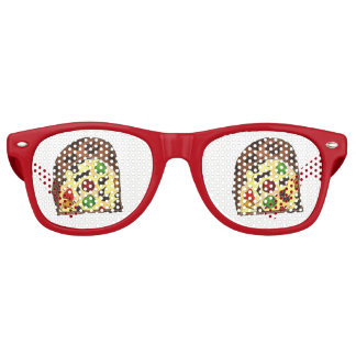 Christmas Fruit Cake Fruitcake Slice Holiday Xmas Retro Sunglasses