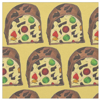 Christmas Fruit Cake Slices Fruitcake Xmas Fabric