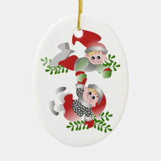 Christmas Fun Ceramic Ornament
