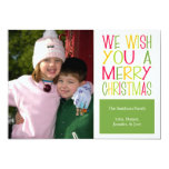 Christmas Fun Christmas Card (Green) Personalised Announcements