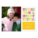 Christmas Fun Christmas Card (Yellow)