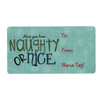 Christmas Fun Name Tag or Return Address Avery Lab