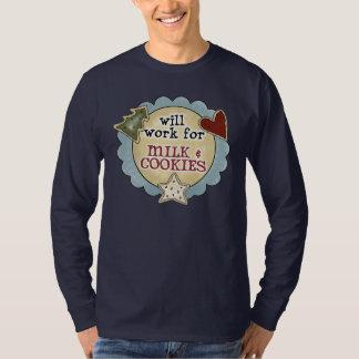 Christmas Fun Work, Milk, Cookies Shirt