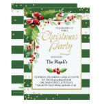 Christmas Function Invitation - Green Stripes