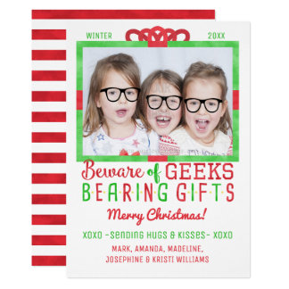 Christmas Funny Geeks | Family Holiday Photo Card