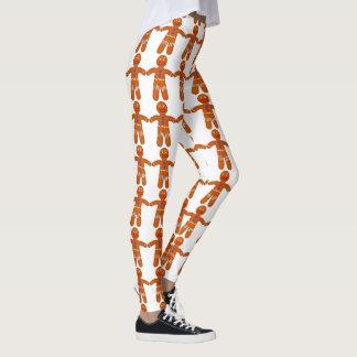 Christmas Funny Gingerbread Man Print Leggings