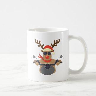 Christmas Funny Rudolf Biker Motorcycle Coffee Mug