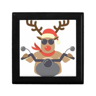 Christmas Funny Rudolf Biker Motorcycle Gift Box
