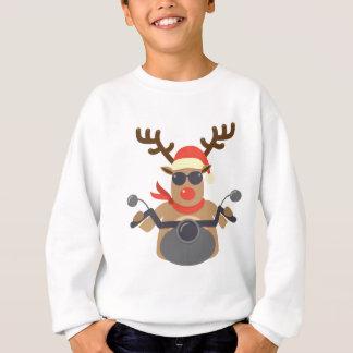 Christmas Funny Rudolf Biker Motorcycle Sweatshirt
