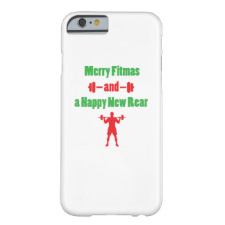 Christmas Fuuny Merry Fitmas and a Happy New Rear Barely There iPhone 6 Case