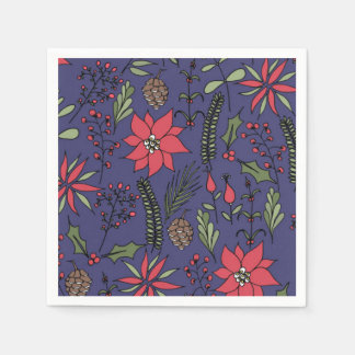 Christmas Garden Print Disposable Napkin