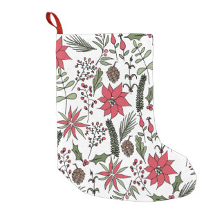 Christmas Garden Print Stocking