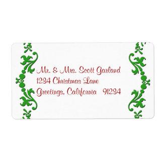 Christmas Garland Address Labels