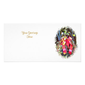 CHRISTMAS GARLAND PERSONALIZED PHOTO CARD