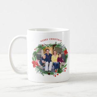 Christmas Garland Pines Berries Juniper Photo Coffee Mug