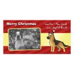 Christmas German Shepherd Personalized Photo Card