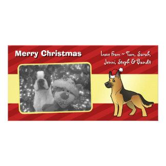 Christmas German Shepherd Photo Card