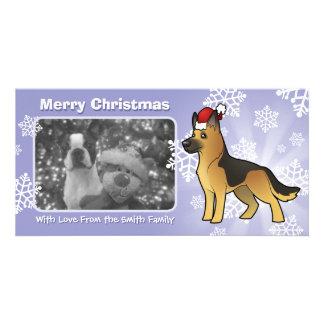 Christmas German Shepherd Photo Greeting Card