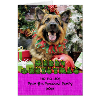 Christmas - German Shepherd - Thor Card