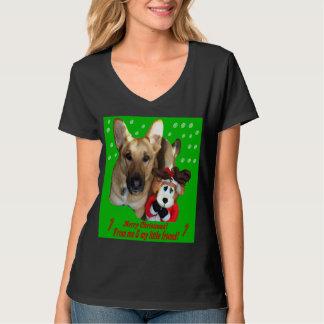 Christmas German Shepherd & Toy Reindeer T-Shirt