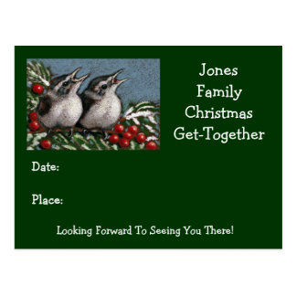 CHRISTMAS GET TOGETHER: ART: INVITATION POSTCARD