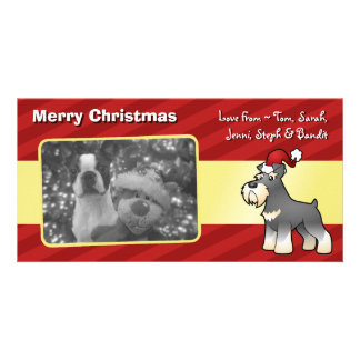 Christmas Giant/Standard/Miniature Schnauzer Customised Photo Card