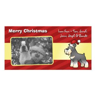 Christmas Giant/Standard/Miniature Schnauzer Photo Card