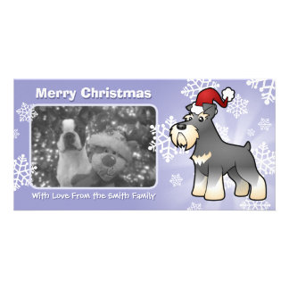 Christmas Giant/Standard/Miniature Schnauzer Picture Card