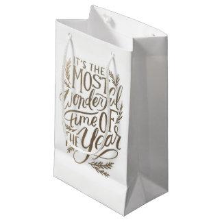 Christmas Gift Bag - Small, Glossy