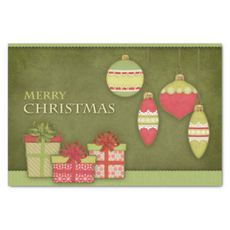 Christmas Gift Box and Ornament Illustration Tissue Paper