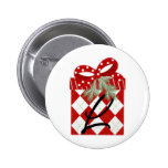 Christmas Gift Initial  L Pinback Button