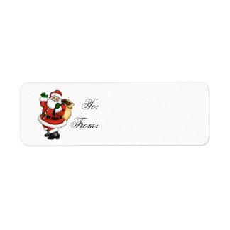 Christmas Gift Label Return Address Label